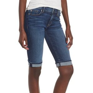 Hudson blue denim Bermuda jean shorts Sz 24 NWT